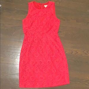 J. Crew Fuschia Lace dress